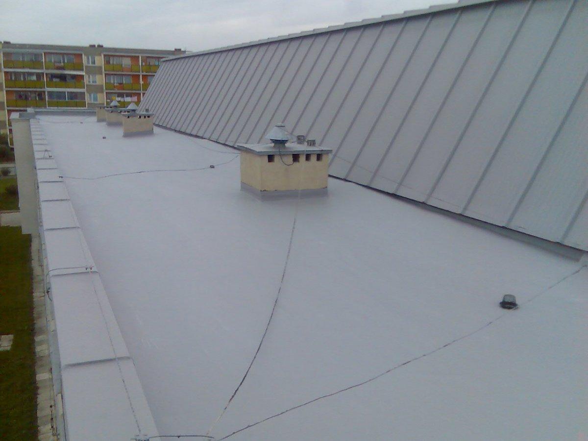 naprawa dachu z papy termozgrzewalnej