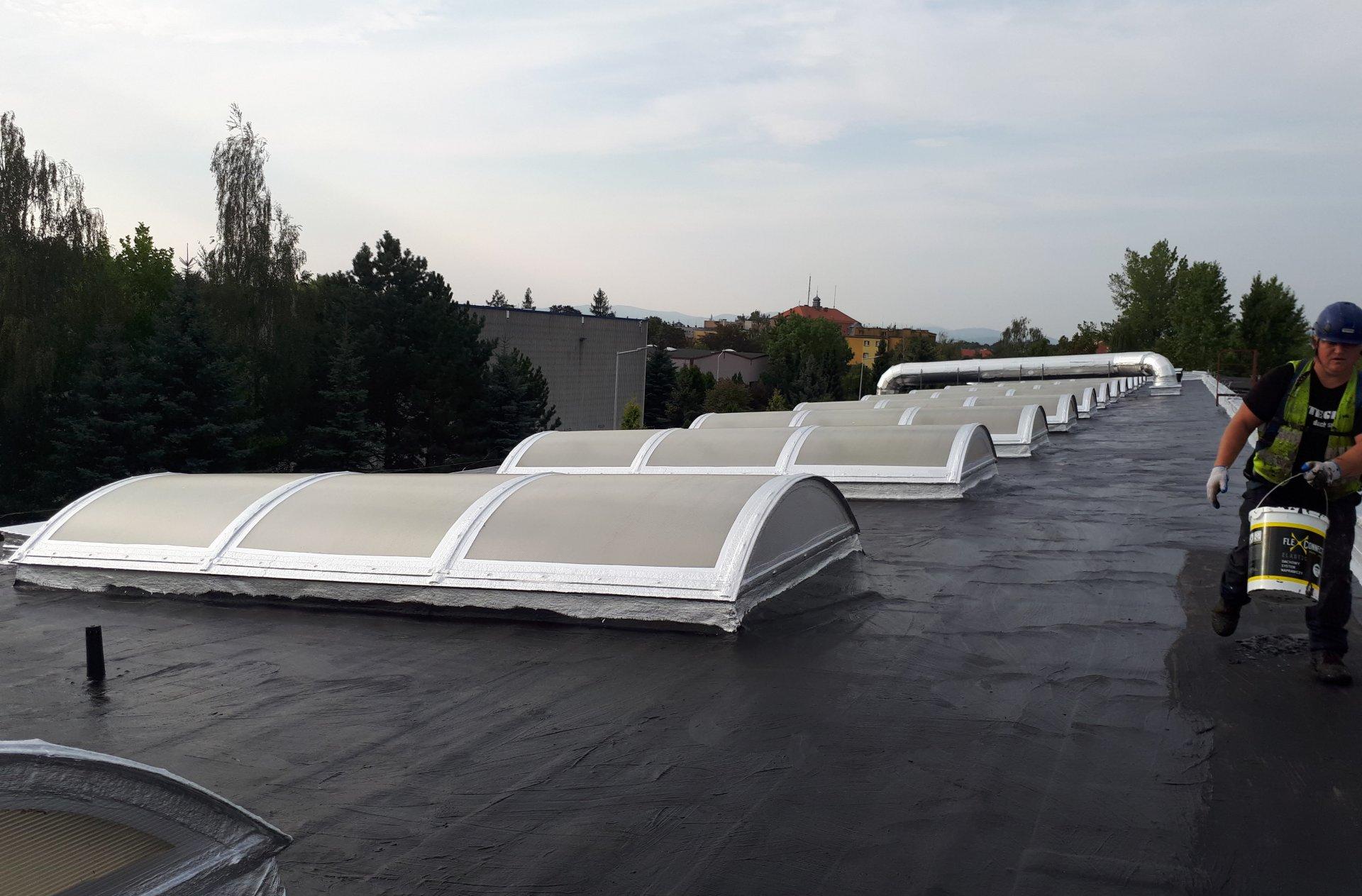 impregnacja włókniny, malowanie dachu
