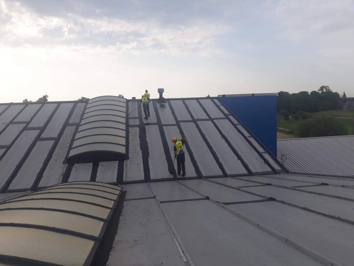 5. doszczelnienie dachu z blachy