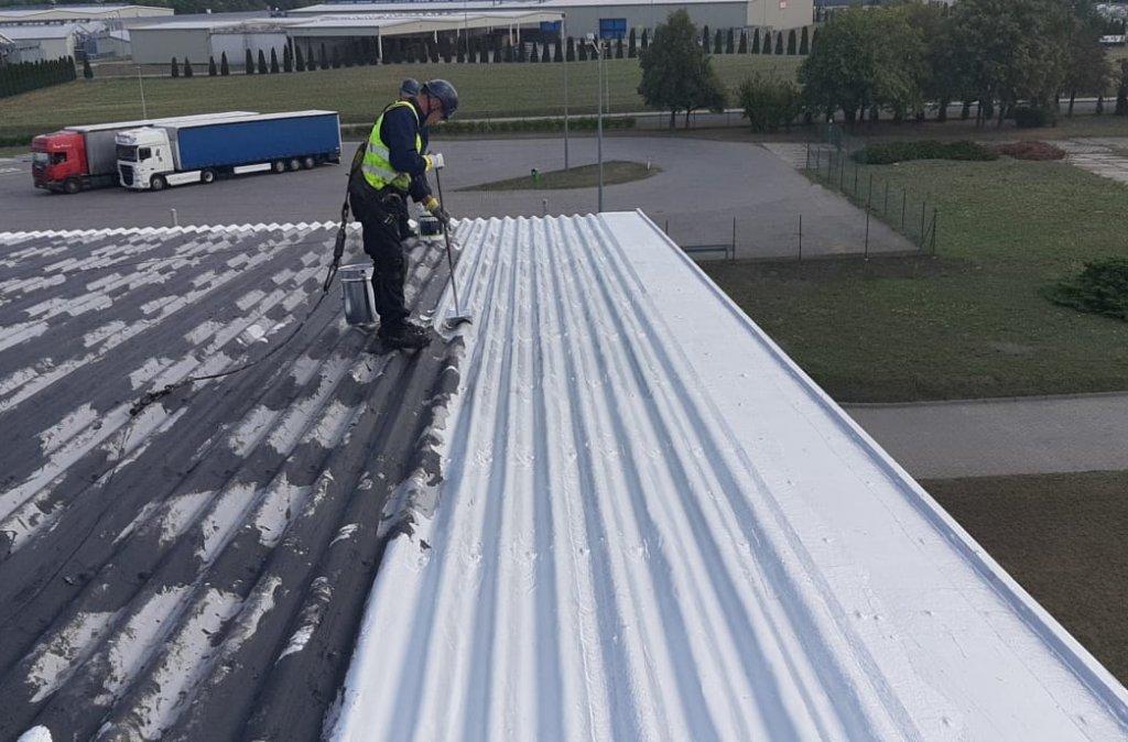 8. Malowanie dachów przemysłowych